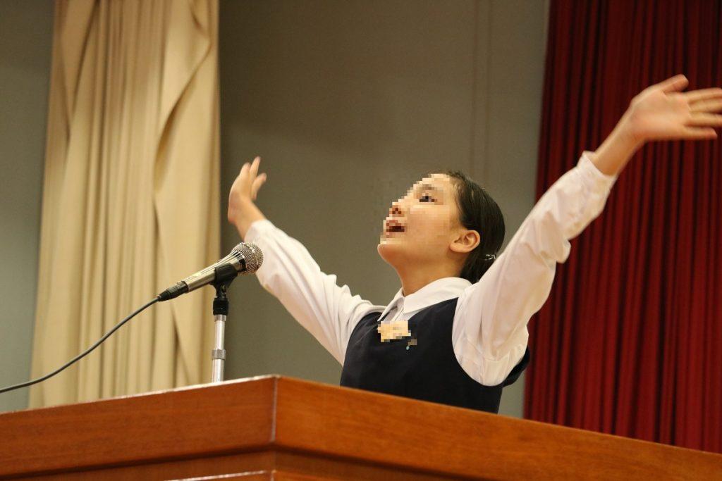 第4回 純心中学校英語暗唱弁論大会が行われました。